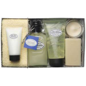 Gift box full of pampering products - perfect for a birthday or anniversary gift.